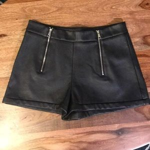 Zara Faux Leather Shorts Size s